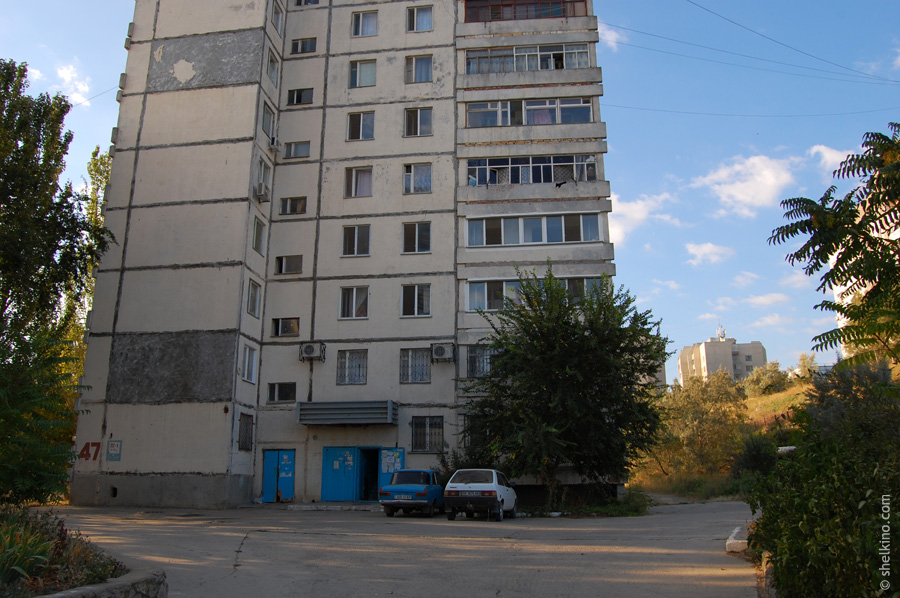 Щелкино, дом 47. Вид с севера, со стороны дома 49.