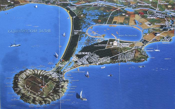 Карта Казантипского полуострова