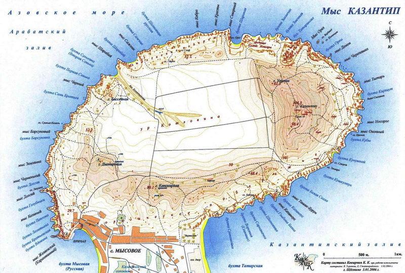 Карта Казантипа