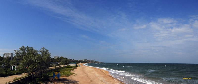 Городской пляж Щелкино