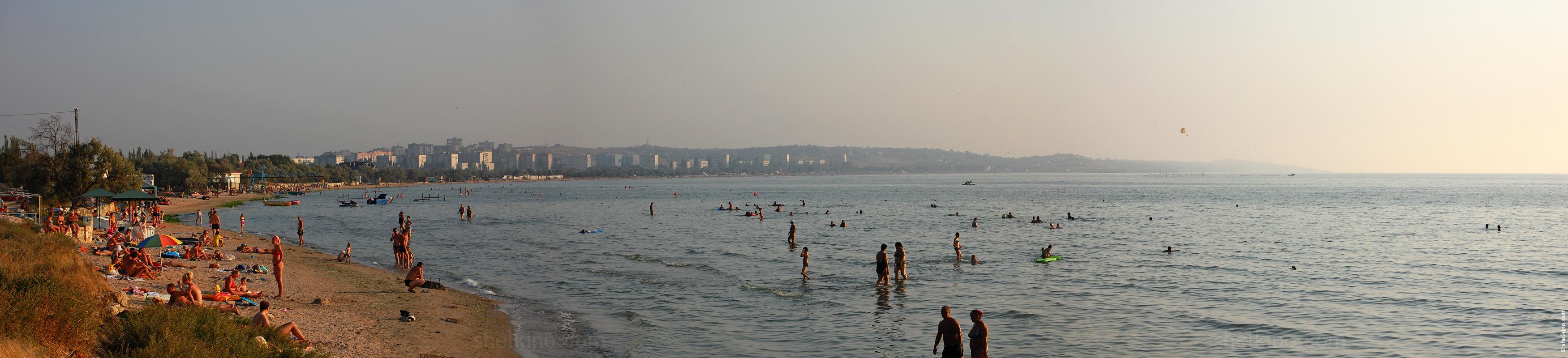 Щелкино фото пляжей и города