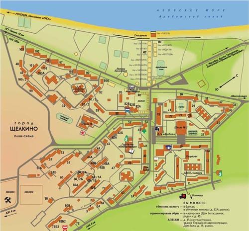 Карта Щелкино
